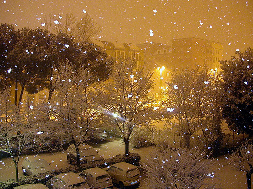 Snow in Florence (Tuscany)
