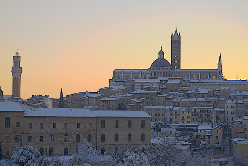Snow in Siena (Tuscany)
