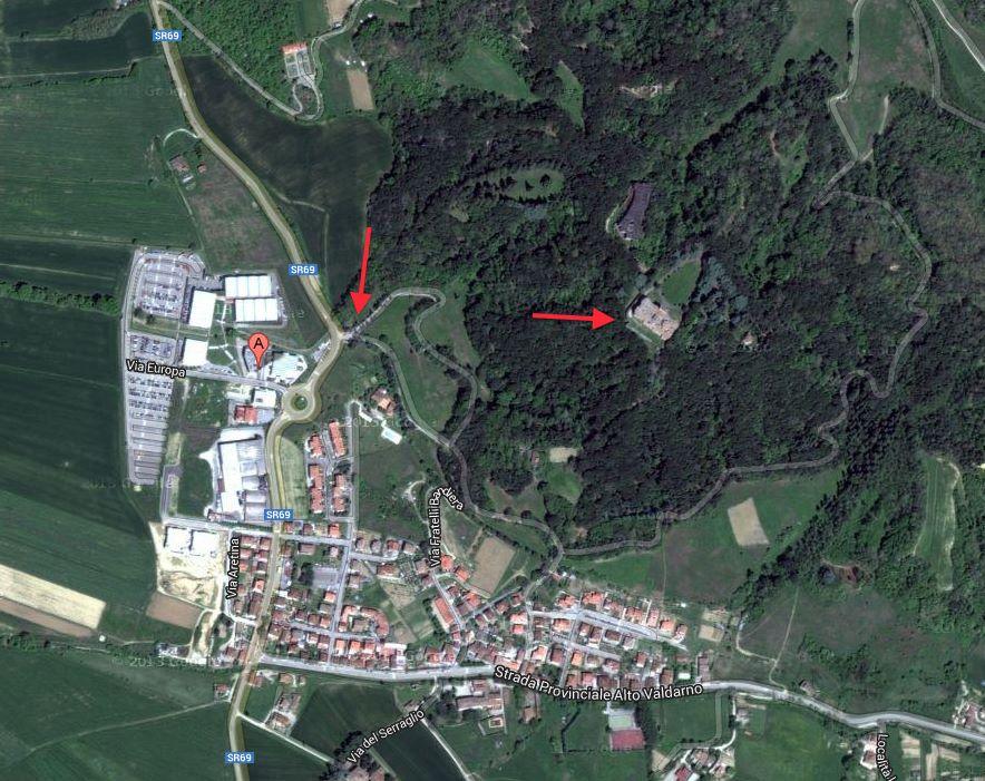 Map: how to reach Sammezzano Castle