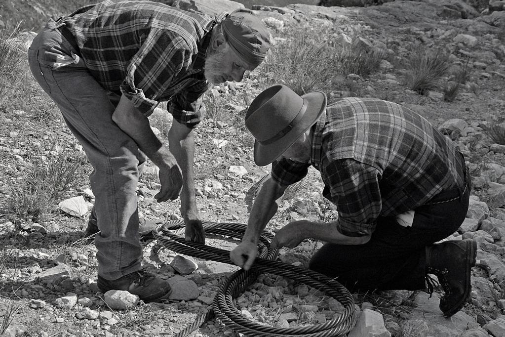 Lizzatura -  si legale il cavo per risalire