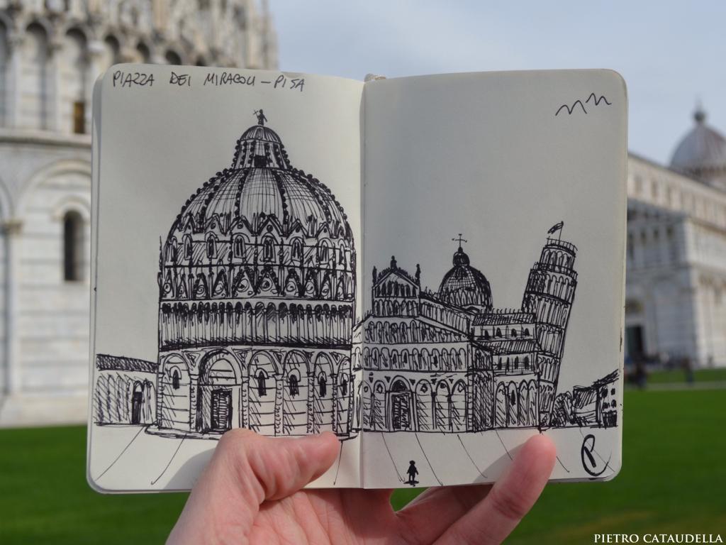 Piazza dei Miracoli CityLiveSketch