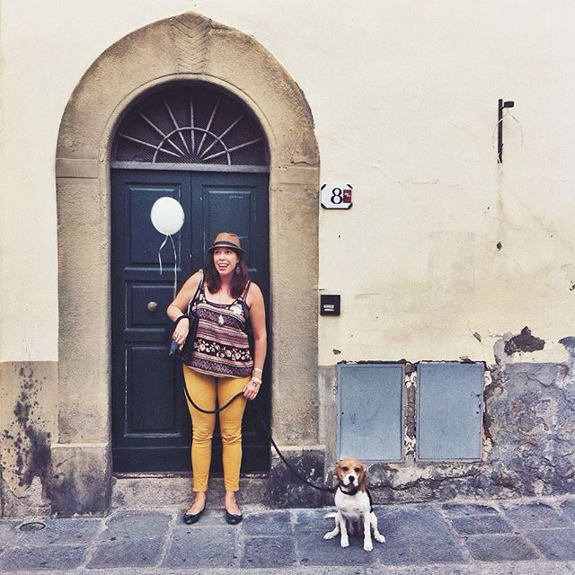 girl in florence and beagle #wwim12firenze by @uccellina03