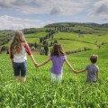 Kids in Tuscany