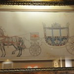 Design for a processional horse and carriage