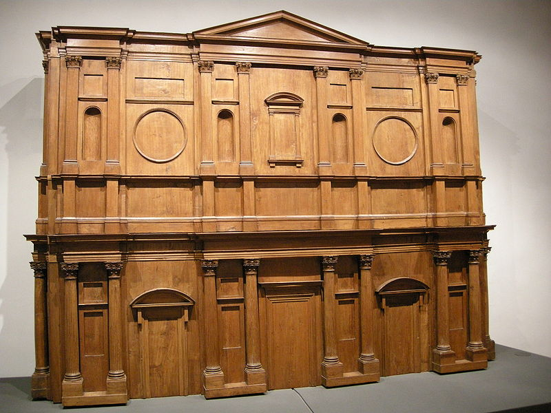 Model for the facade of San Lorenzo, Casa Buonarroti. Image: wikimedia.