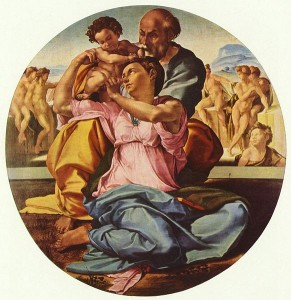 Michelangelo, Doni Tondo. Uffizi. Image in the public domain/ wikimedia