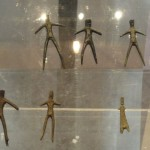 Little bronze figures in Gubbio's museum