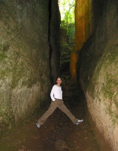 A skinnier younger me is excited by the width of this space.
