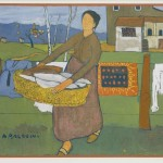 Adolfo Balduini, Woman with laundry basket