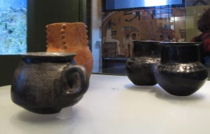 Vase and jugs from Georgian National Museum, oldest known containers for wine