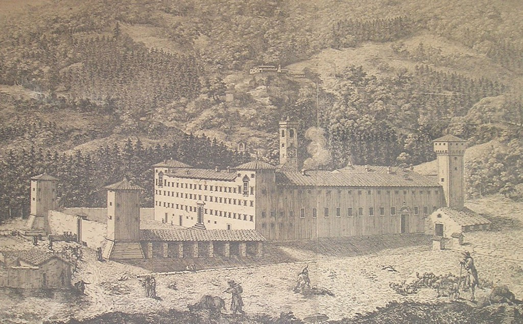 Vallombrosa in a print from 1750 (photo: wikimedia)