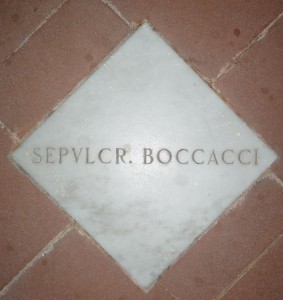 Boccaccio is buried here.