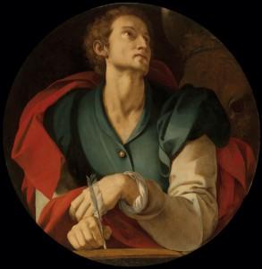Bronzino (attrib) St. Luke for the Capponi Chapel