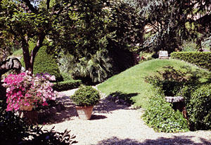 The garden of the archaeological museum