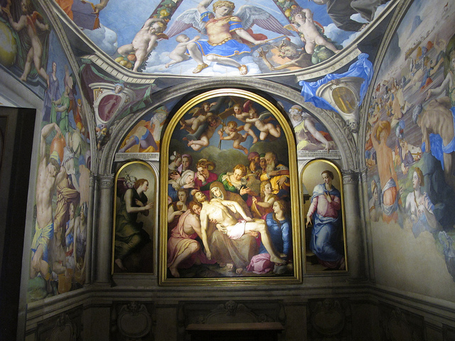 New lighting in the chapel of Eleonora di Toledo, Palazzo Vecchio Florence