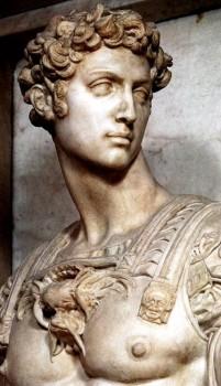 Michelangelo - Giuliano Duke of Nemours is the Active Life
