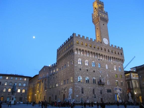 Palazzo Vecchio in the evening