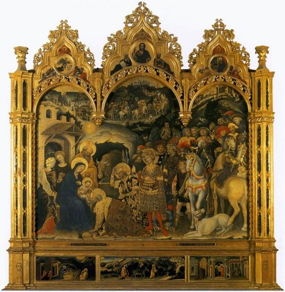 Gentile da Fabriano, Adoration (Uffizi)