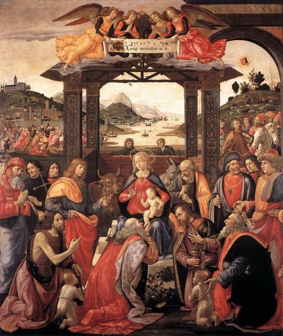 Ghirlandaio, Adoration for the Ospedale degli Innocenti