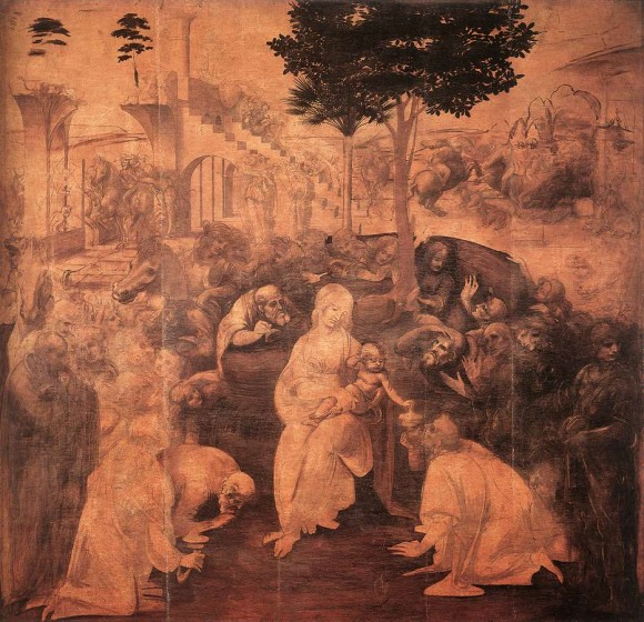 Leonardo, Unfinished Adoration, Uffizi