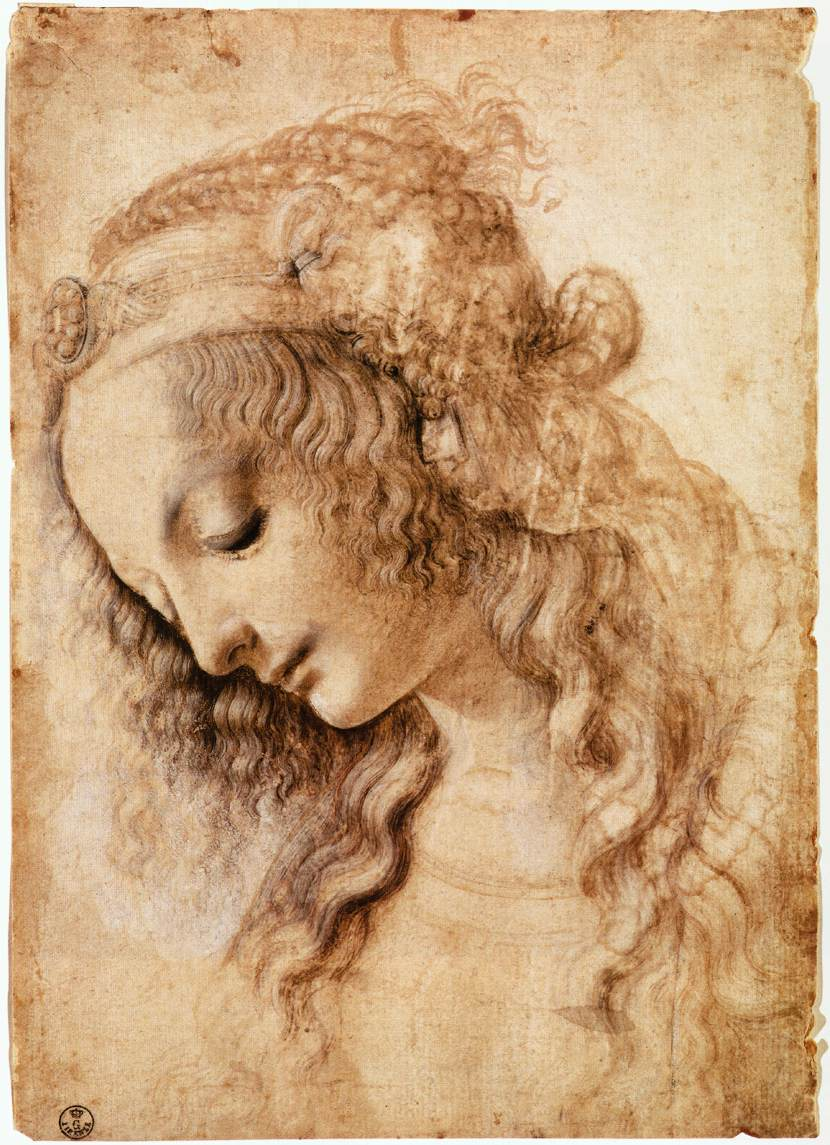 woman head da vinci