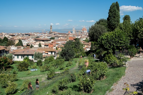 The view from Florence's Rose Garden
