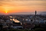 florence panorama sunset