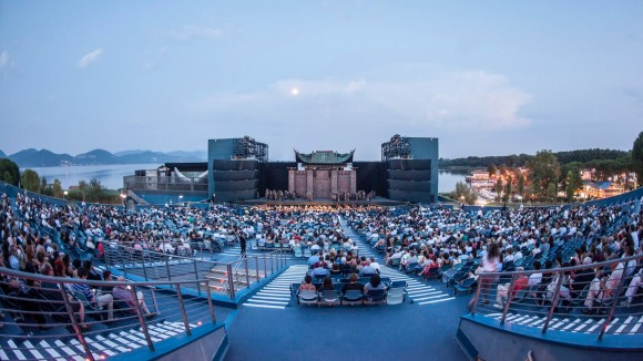 The open air theatre in Torre del Lago