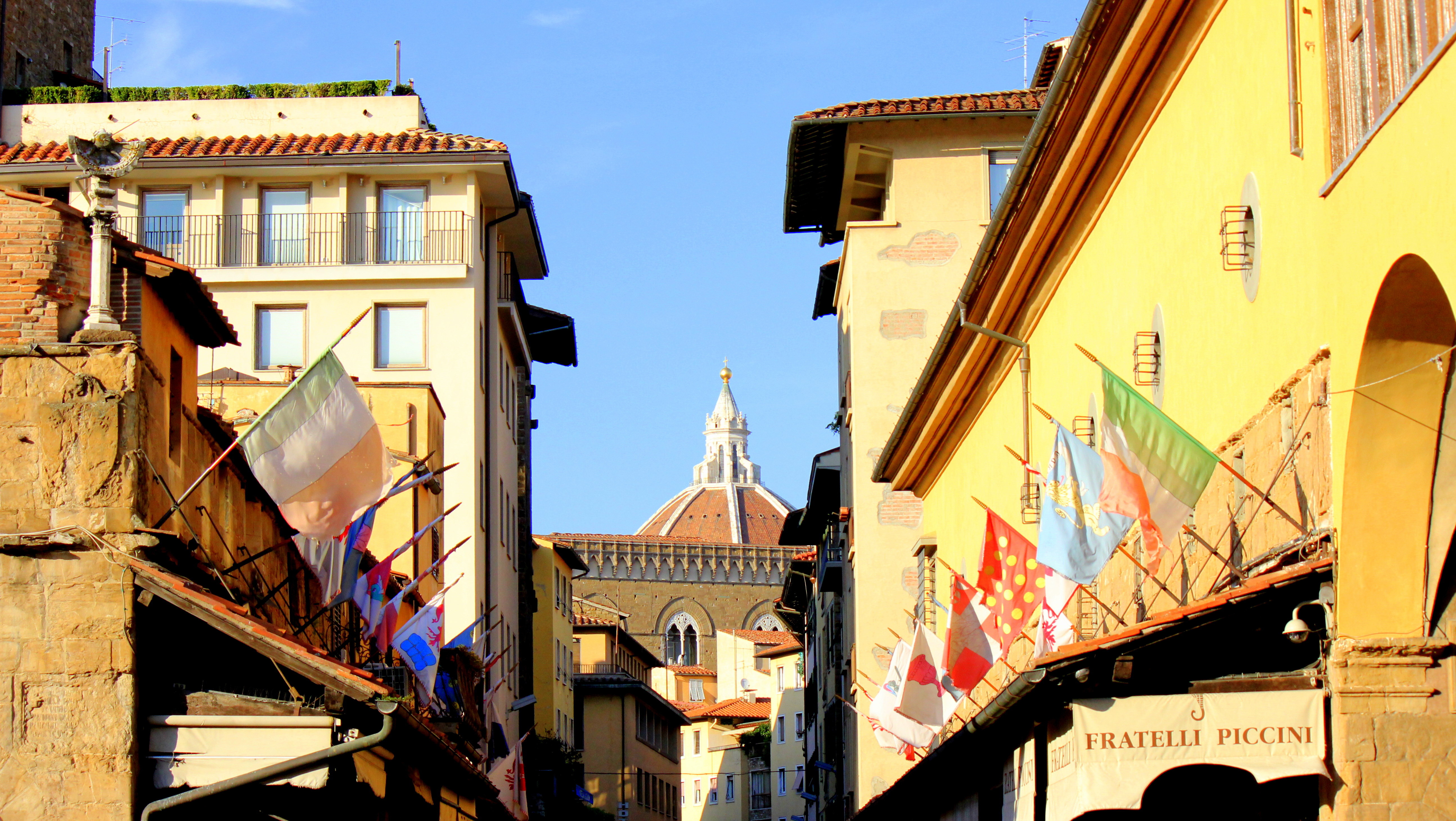 The Cupola spotted from Ponte Vecchio