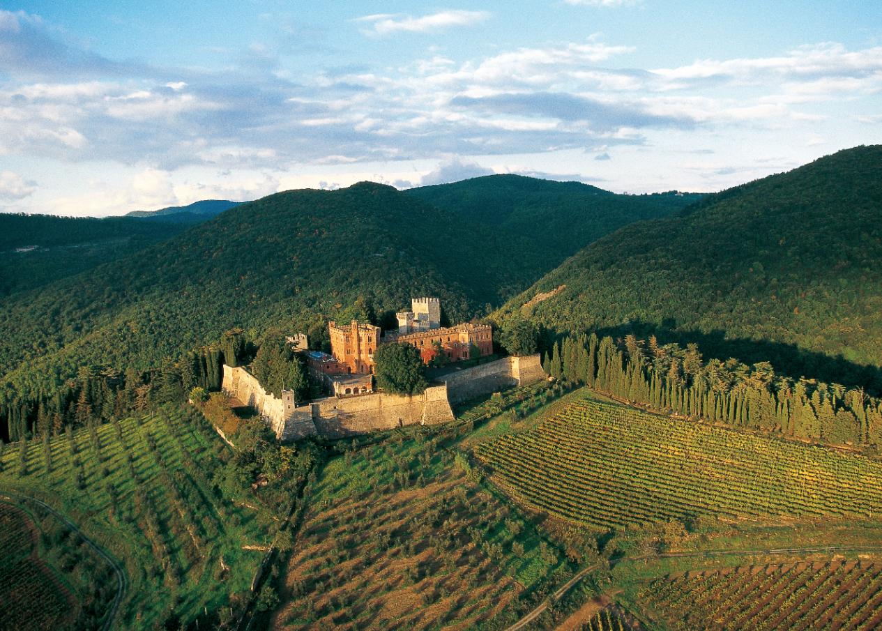 Brolio Castle in the area of Gaiole in Chianti