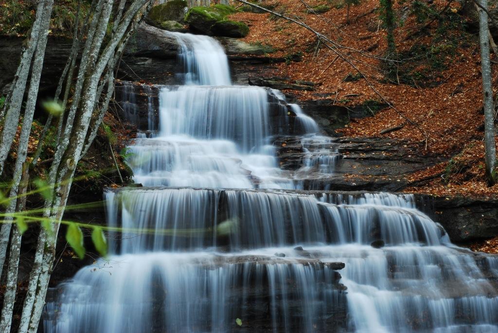"The ""three waterfalls"" in the area of Badia a Prataglia"