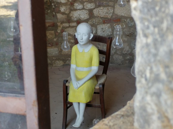 Kiki Smith's Yellow Girl in San Gimignano