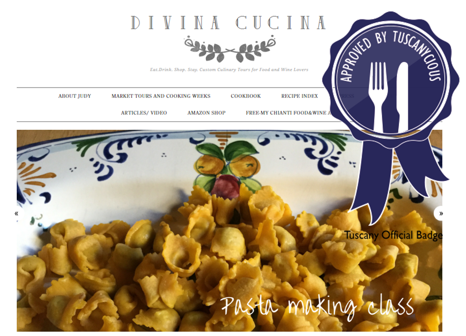 divina cucina has been included in our hall of fame the tuscanycious hall of fame highlights websites awarded a special badge for featuring information