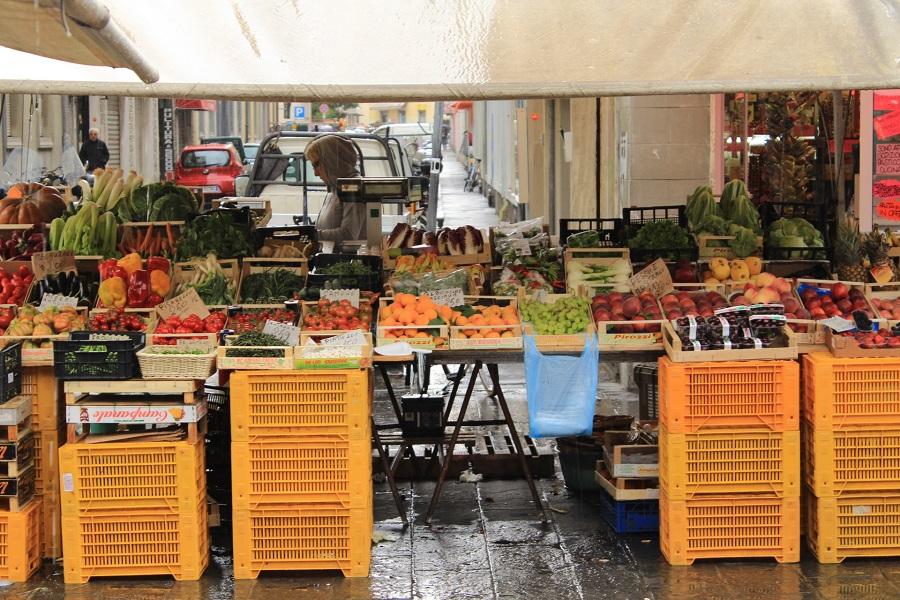 Vegetables stalls in Livorno