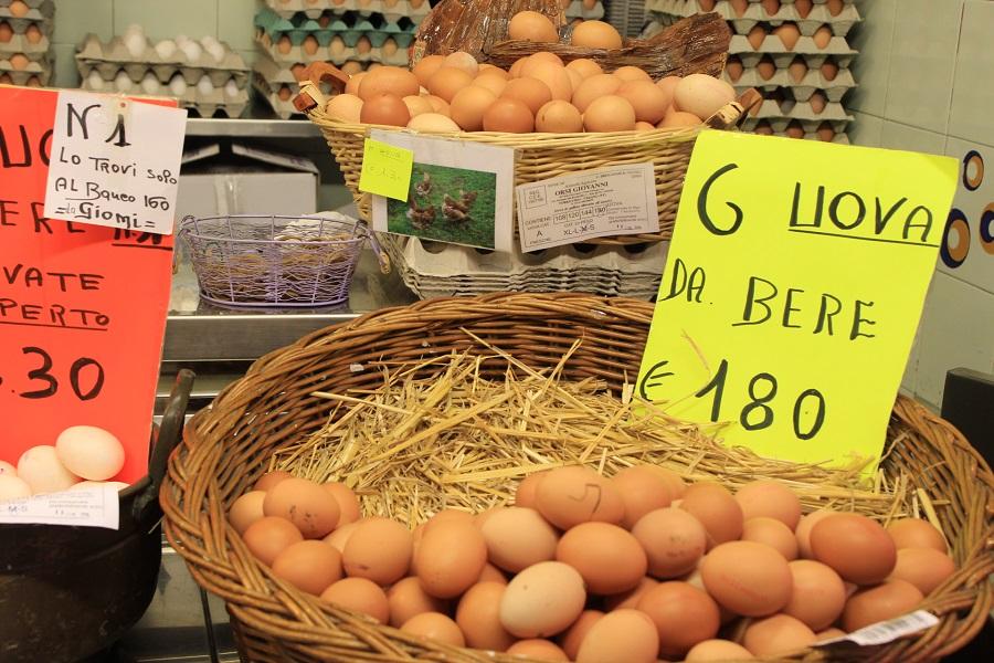 Egg shop at Central Market (Livorno)
