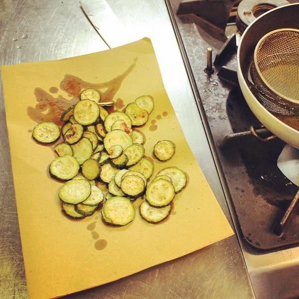 Fryied zucchini
