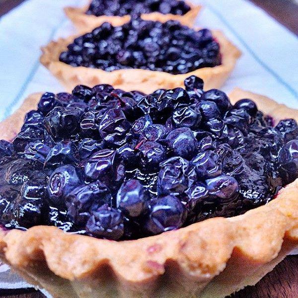 Blueberries' tart