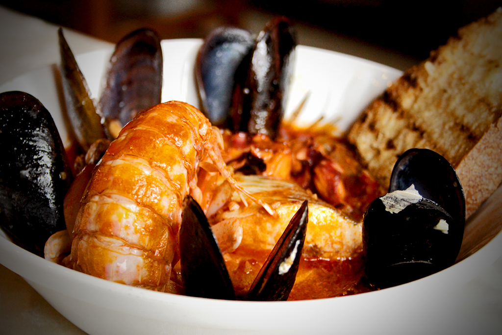 Cacciucco fish soup from Viareggio