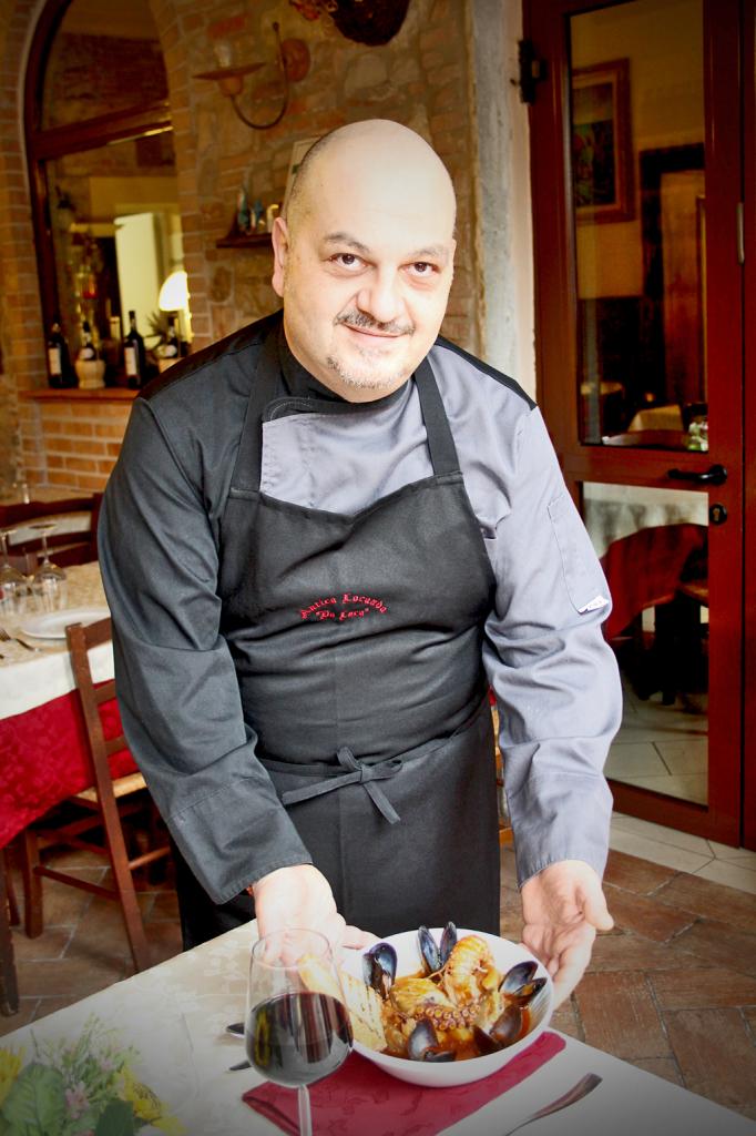 Luca Lucchesi, chef at Antica Osteria da Luca (Viareggio)